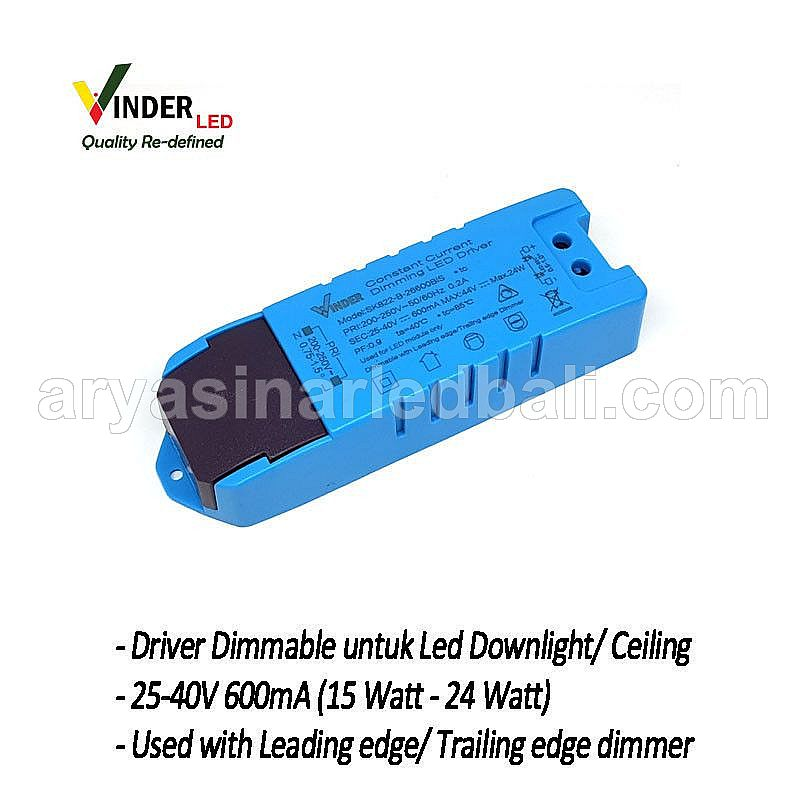 VINDER Dimmable Driver Ballast 15W-24W